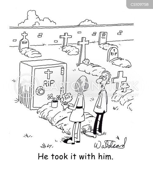 cemetaries cartoon