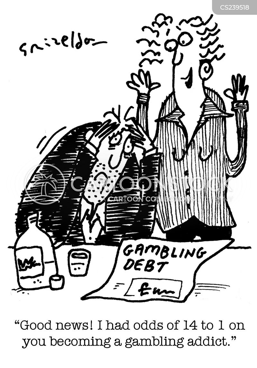 gambling debts cartoon