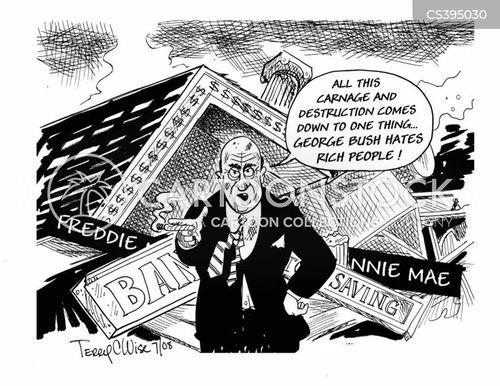 banking collapse cartoon