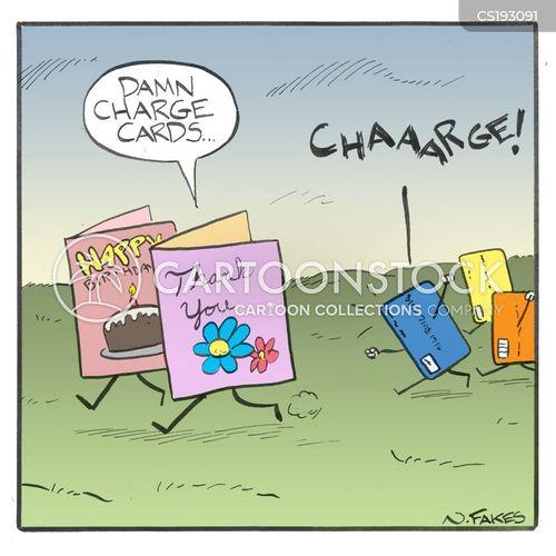debit card cartoon