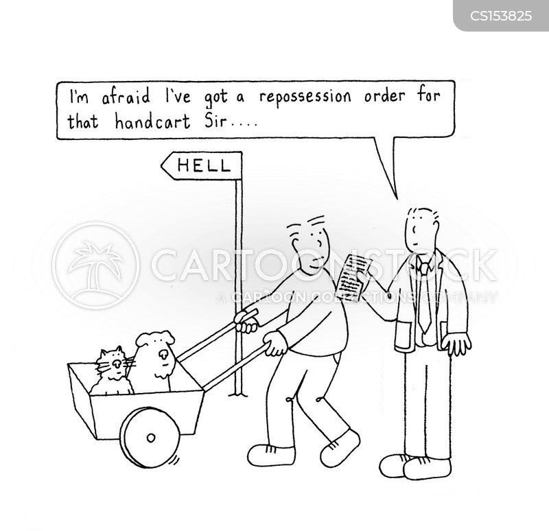 repossession orders cartoon