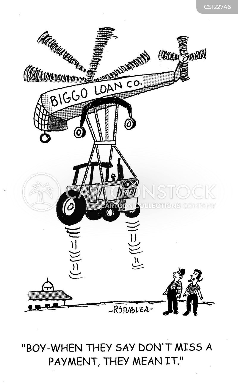 loan payment cartoon