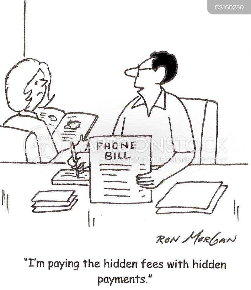 phone bill cartoon