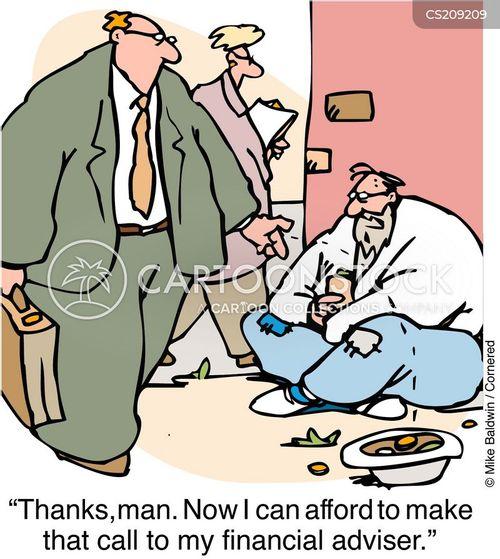 finacial advisor cartoon