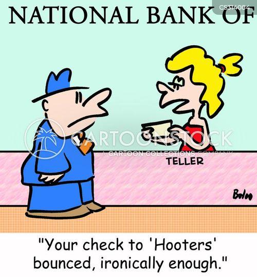 bounced check cartoon