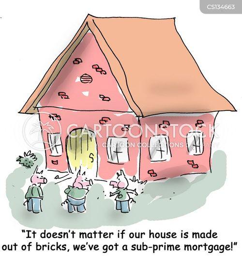 sub-prime mortgages cartoon