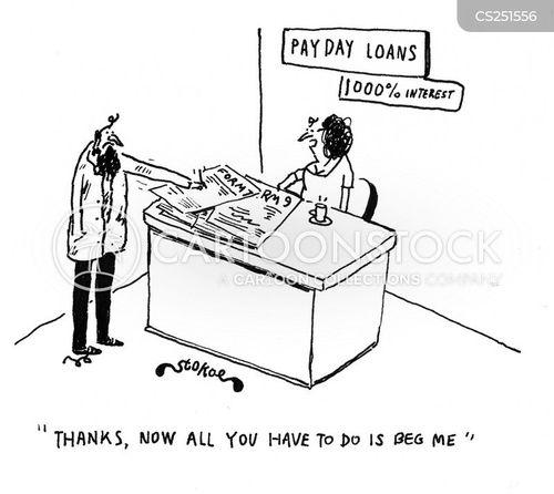 payday loan cartoon