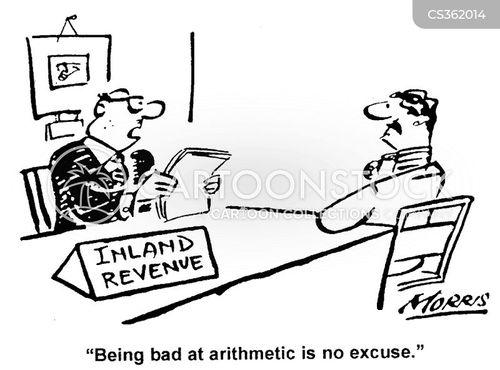 miscalculating cartoon