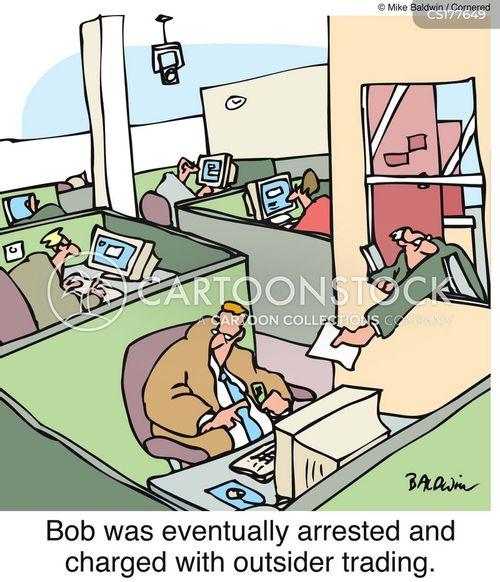 insider trading cartoon