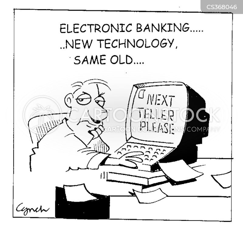 electronic banking cartoon
