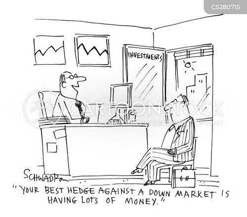 down market cartoon