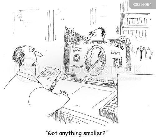 large bills cartoon
