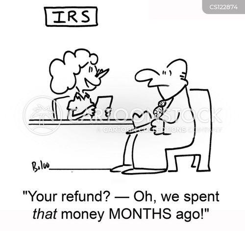 overpaid tax cartoon