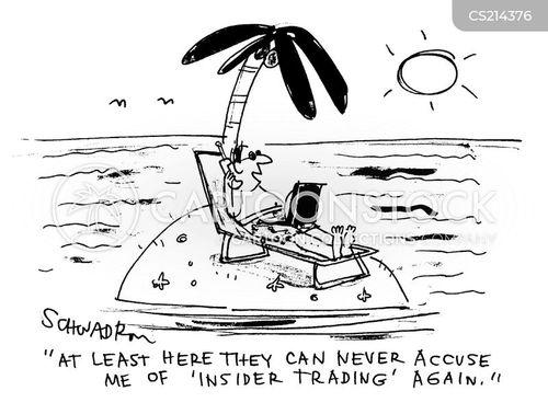 insider traders cartoon