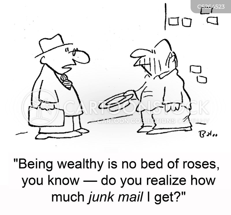 direct marketing cartoon