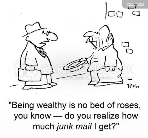 direct marketing cartoon