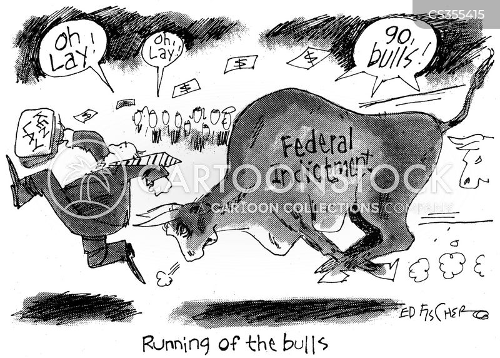 bull run cartoon