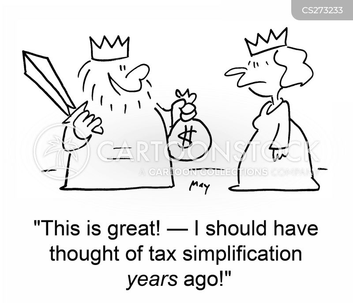 tax simplification cartoon