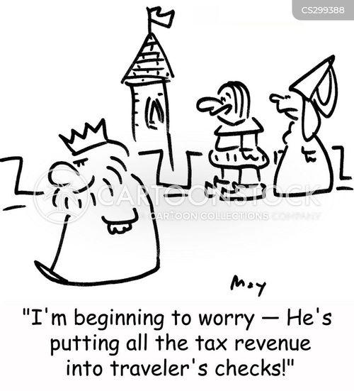tax revenue cartoon