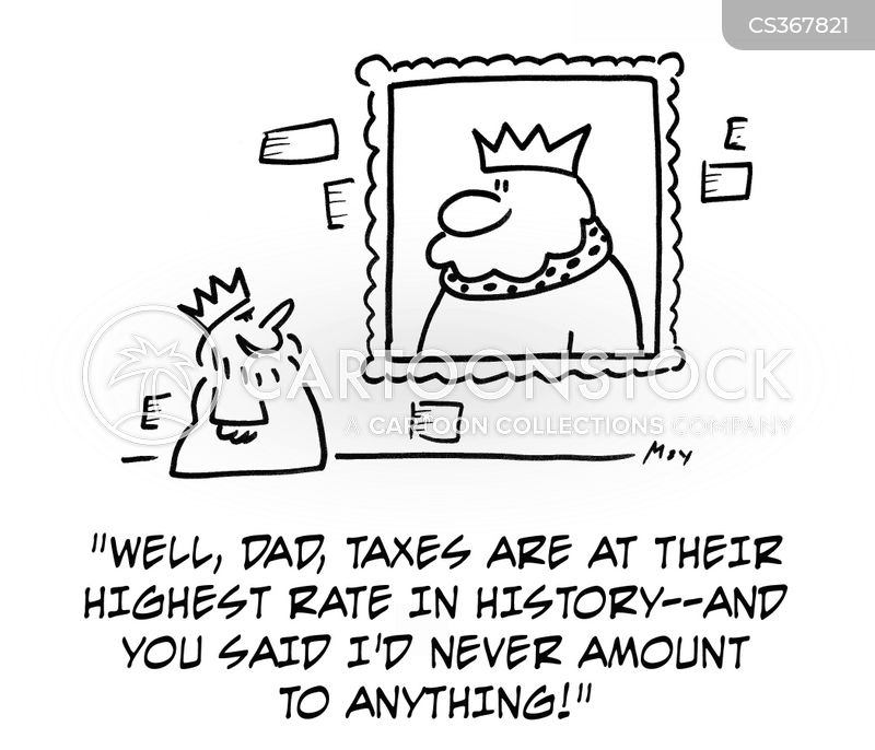 high tax cartoon