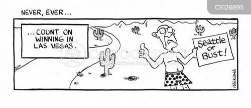 hitch hikers cartoon