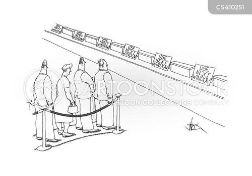 bank customer cartoon