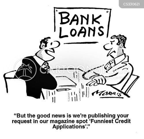 credit applications cartoon