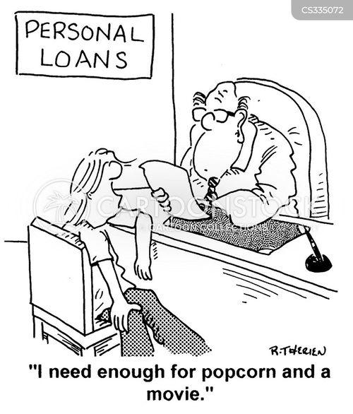 personal loans cartoon