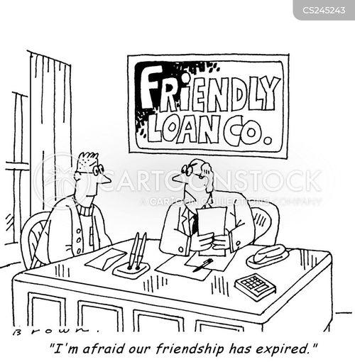 loan defaults cartoon