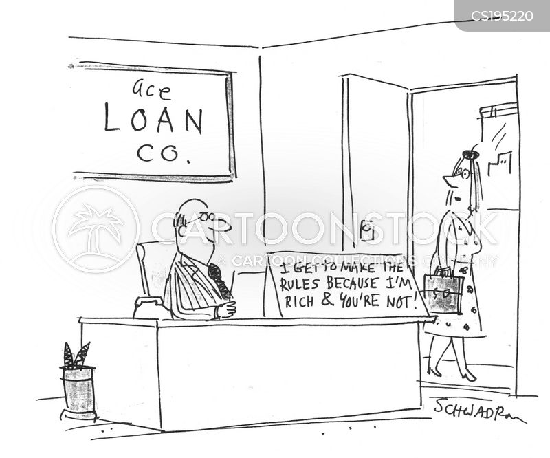 loaning cartoon