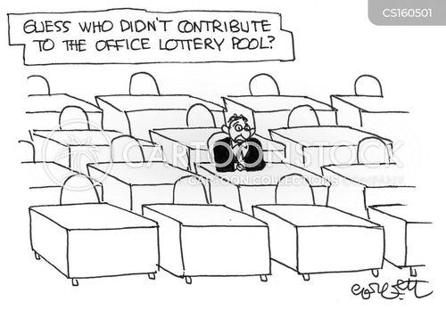 win the lottery cartoon