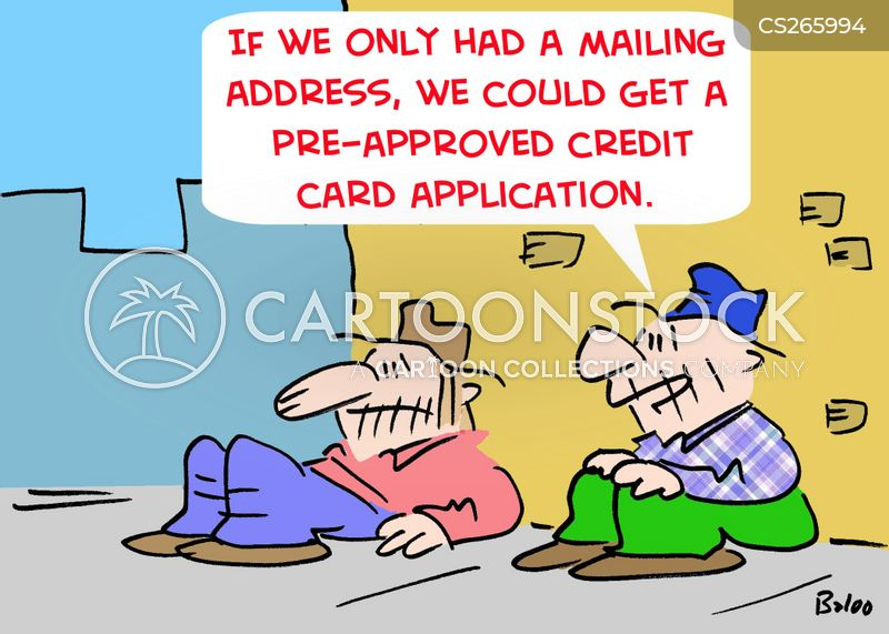 mailing address cartoon