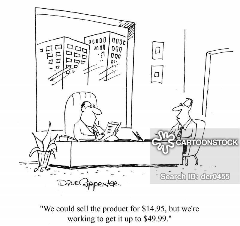 profit margin cartoon