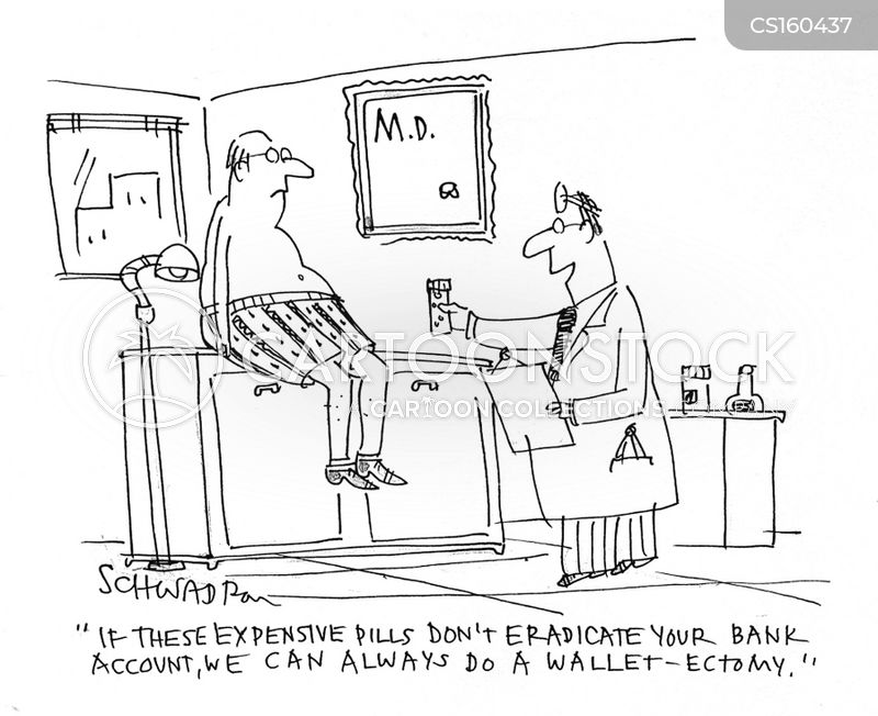expensive pills cartoon