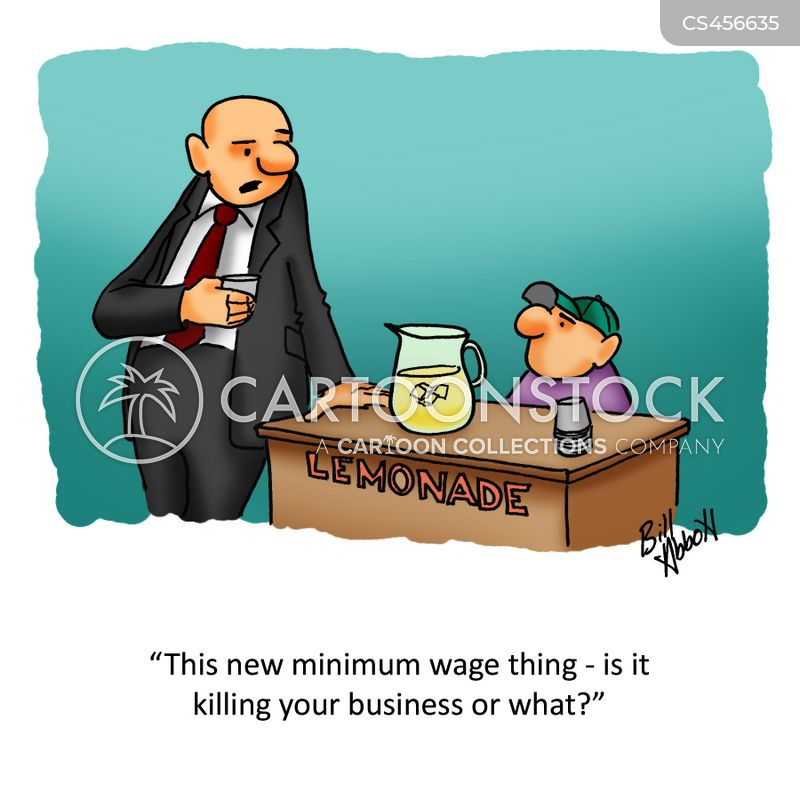 low wages cartoon