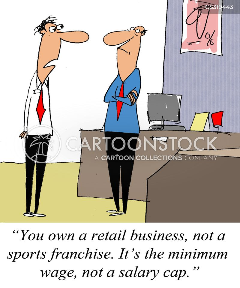 retail business cartoon