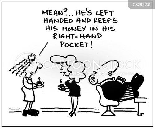 right-handed cartoon