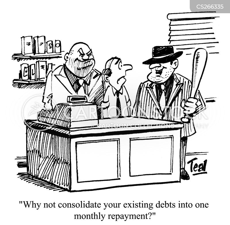 Debt Collector Cartoons and Comics - funny pictures from CartoonStock