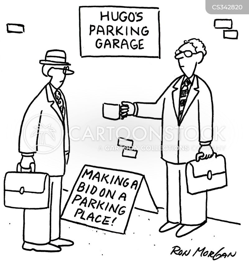 parking garages cartoon