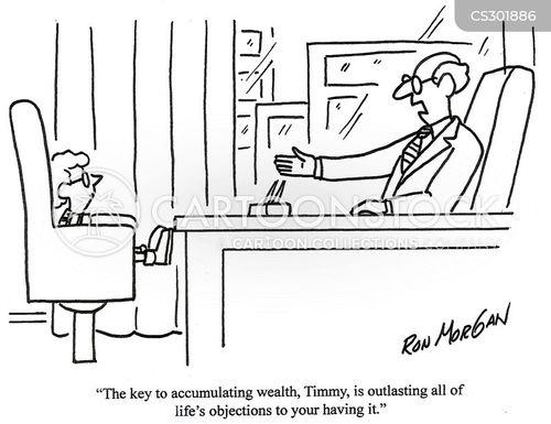 accumulating cartoon