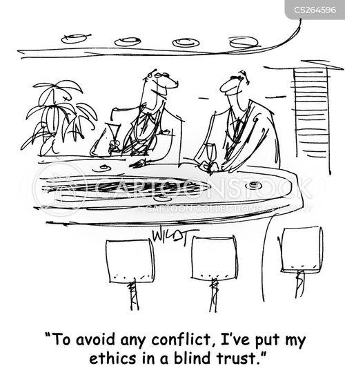 blind trusts cartoon