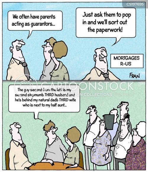 step-family cartoon