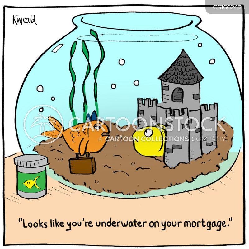 fish bowl cartoon