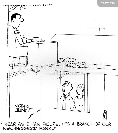 bank branches cartoon