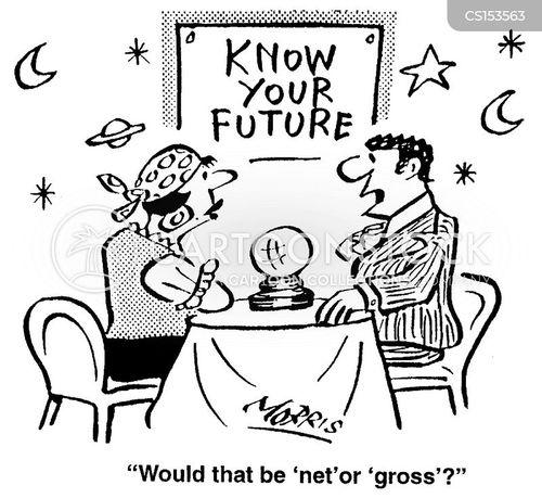 financial prediction cartoon