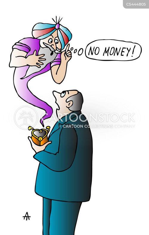 managing money cartoon
