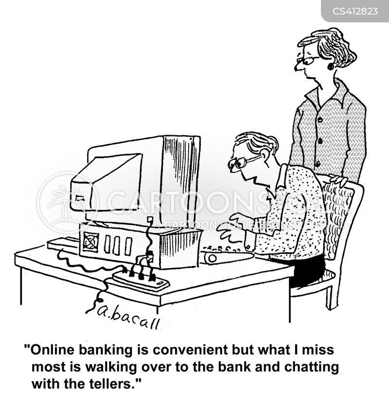 internet banking cartoon