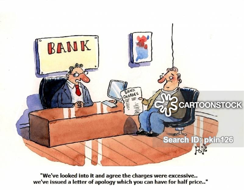 bank charges cartoon