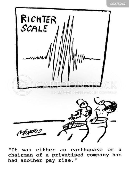 richter scale cartoon