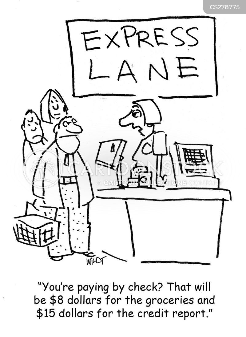 credit check cartoon